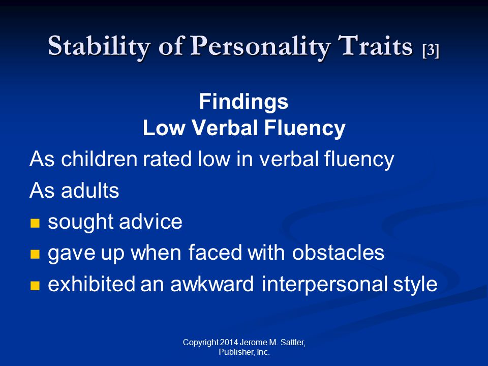 Stability of Personality Traits [3]